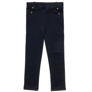 Leggings with golden buttons (6-14 years)