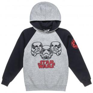 Μπλούζα Star Wars με κουκούλα και τύπωμα (6-14 ετών)