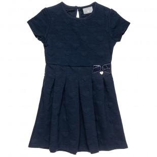Φόρεμα με all over καρδούλες και βελουτέ (6-14 ετών)