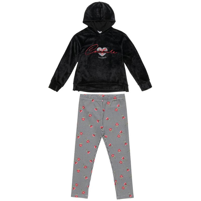 Set Moovers sweatshirt velours and leggings (6-14 years)