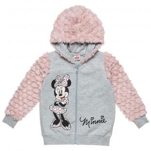 Ζακέτα Disney Minnie Mouse με γούνινες λεπτομέρειες (2-5 ετών)