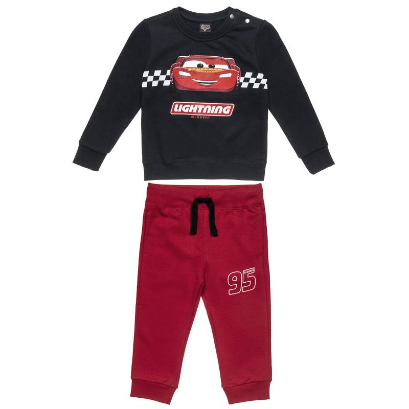 Σετ Disney Cars μπλούζα με τύπωμα και τρουκς και παντελονάκι (2-6 ετών)