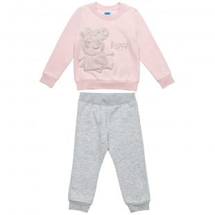 Σετ Φόρμας Peppa Pig μπλούζα με κέντημα και παντελονάκι (2-5 ετών)