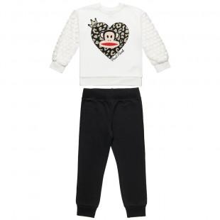 Σετ Φόρμας Paul Frank μπλούζα με glitter και παντελονάκι με λάστιχο (6-14 ετών)