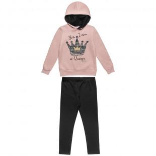 Σετ Φόρμας Moovers μπλούζα με κουκούλα και κολάν (6-14 ετών)