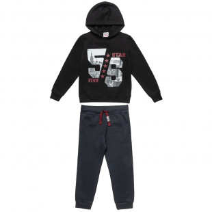 Σετ Φόρμας Five Star μπλούζα με ανάγλυφο και παντελόνι με λάστιχο και κορδόνια (6-16 ετών)