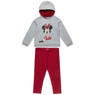 Σετ Φόρμας Disney Minnie Mouse μπλούζα με κουκούλα και κολάν (2-8 ετών)