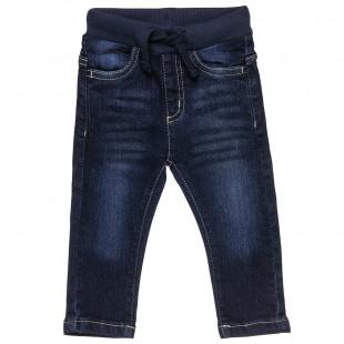 Παντελόνι Τζιν με λάστιχο στη μέση και τσέπες (12 μηνών-6 ετών)