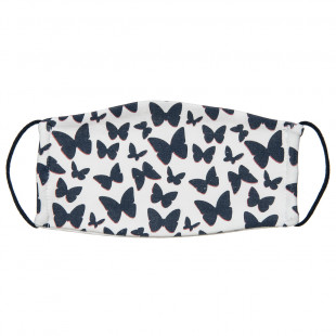 Mask fabric with hearts (3-6 years)