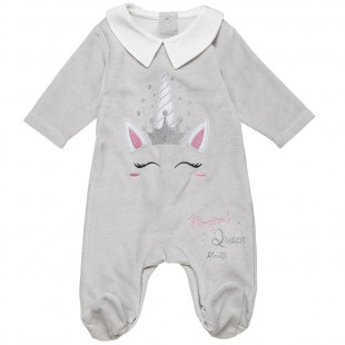 Babygrow with pathc uniconr and glitter (1-9 months)