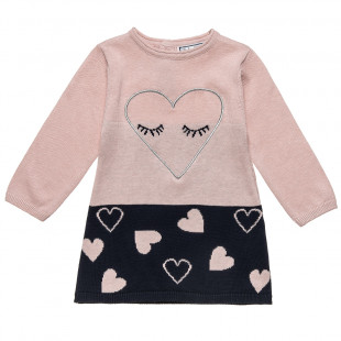 Woven dress with hearts (6 monhts- 2 years)