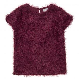 Μπλούζα μοχέρ με κούμπωμα στην πλάτη (6-14 ετών)