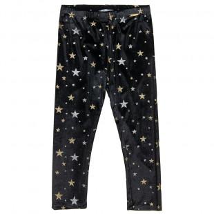 Κολάν βελουτέ με μοτίβο glitter αστέρια (6-14 ετών)