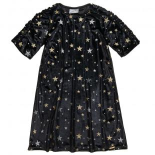 Φόρεμα βελουτέ με μοτίβο glitter αστέρια (6-14 ετών)