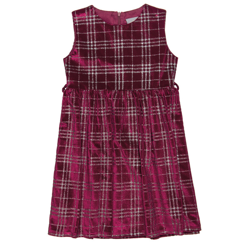Dress velours with glitter all over (6-14 years)