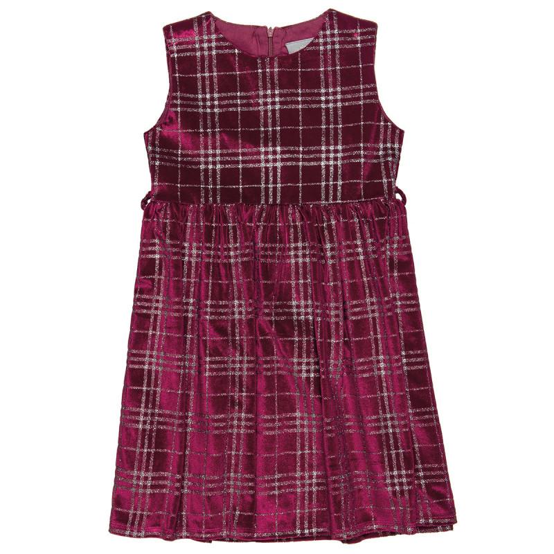 Φόρεμα αμάνικο βελουτέ με glitter all over (6-14 ετών)