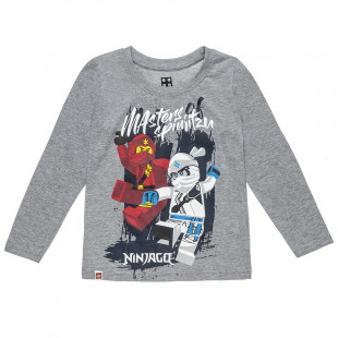 Μπλούζα Ninjago με ανάγλυφο τύπωμα (4-9 ετών)