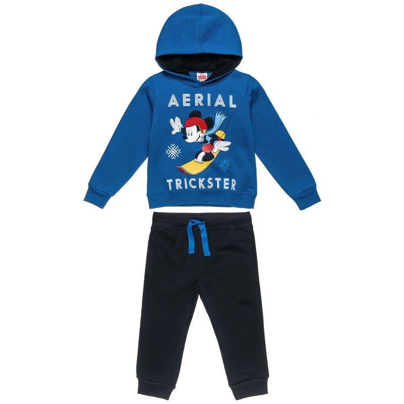 Σετ Φόρμας Disney Mickey Mouse μπλούζα με κουκούλα και παντελόνι (2-5 ετών)
