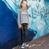 Set Moovers sweatshirt with patch and leather leggings (6-16 years)