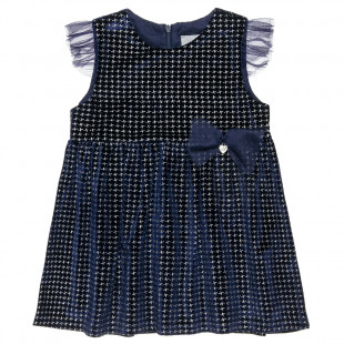 Dress with velours touch and tulle (12 months-5 years)
