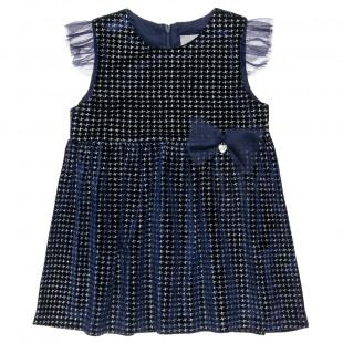 Φόρεμα με βελούδινη υφή και τούλι (12 μηνών-5 ετών)