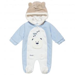 Φόρμας Εξόδου Tender Comforts με κουμπιά και επένδυση γούνας στη κουκούλα (1-12 μηνών)