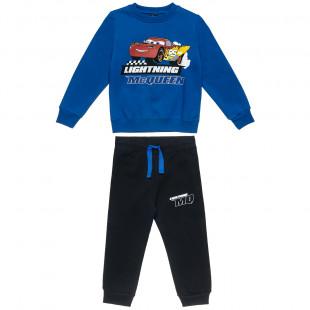 Σετ Φόρμας Disney Cars μπλούζα με τύπωμα και παντελόνι φόρμας (3-6 ετών)