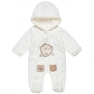 Φόρμα Εξόδου Tender Comforts με κουκούλα και κέντημα (1-12 μηνών)