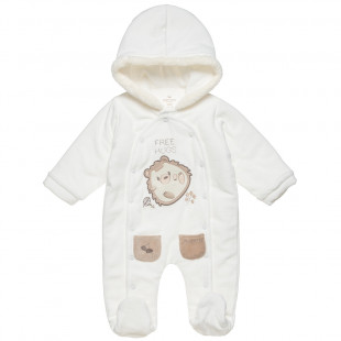 Pramsuit Tender Comforts with hood and patch (1-12 months)