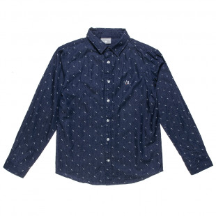 Shirt with all over print and patch (6-14 years)