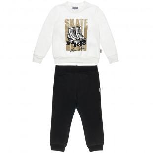 Σετ Φόρμας Five Star μπλούζα με glitter και παντελόνι με τσέπες (12 μηνών-5 ετών)