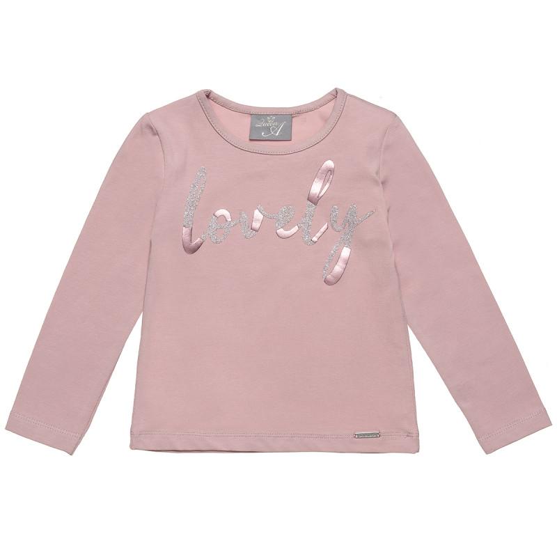 """Μπλούζα με τύπωμα """"lovely"""" (2-5 ετών)"""