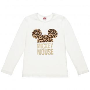 Μπλούζα Disney Minnie Mouse με animal print (6-14 ετών)
