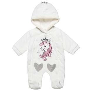 Pramsuit Tender Comforts with print and pockets (1-12 months)