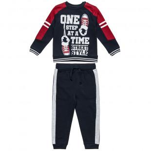 Σετ Φόρμας μπλούζα με τύπωμα και παντελόνι με τσέπες (6 μηνών-5 ετών)