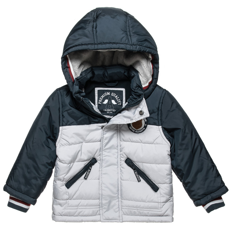 Paddes jacket with patch print and pockets (12 months-5 years)