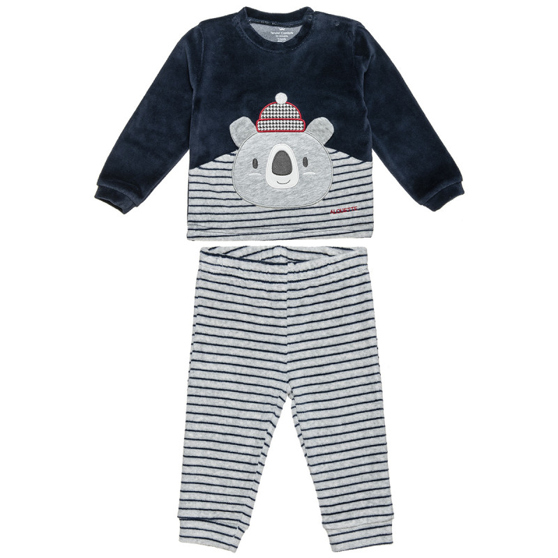 Set velours sweatshirt and joggers (3-18 months)