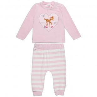 Σετ βελουτέ Disney Bambi με μπλούζα και παντελονάκι (3-18 μηνών)