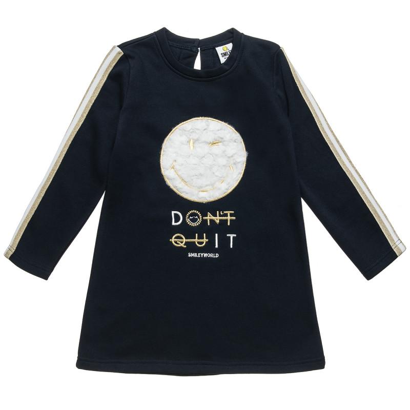 Φόρεμα Smiley με κέντημα γούνινη υφή (4-12 ετών)