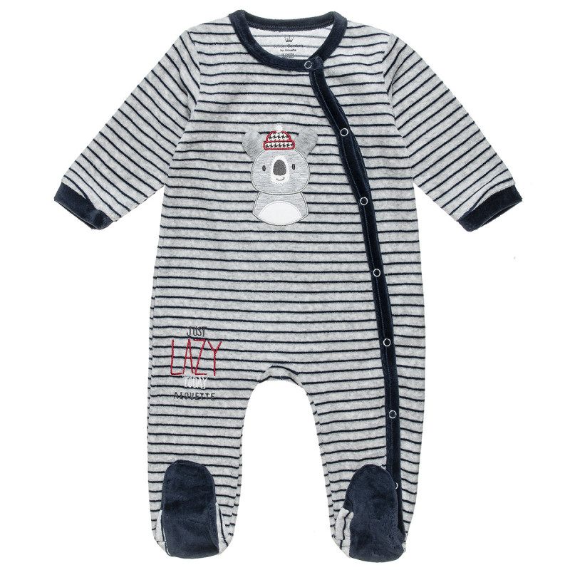 Babygrow velours with patch (1-12 months)