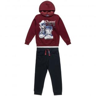 Σετ Φόρμας Five Star μπλούζα με κουκούλα και παντελόνι με τσέπες (6-14 ετών)
