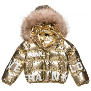 Μπουφάν Paul Frank καπιτονέ με γούνα στην κουκούλα (18 μηνών-5 ετών)