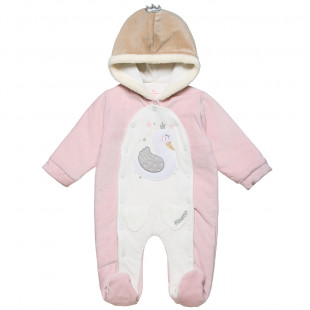 Pramsuit with hood (1-12 months)