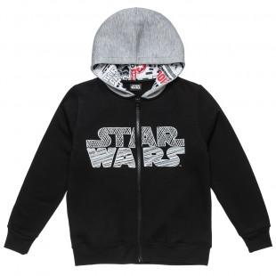 Ζακέτα Star Wars με κουκούλα και τύπωμα μπροστά και πίσω (6-14 ετών)