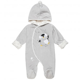 Pramsuit with pinguine print (1-12 months)