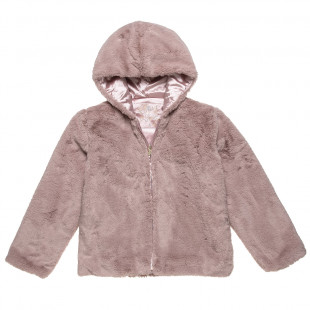 Furry cardigan with pockets (6-14 years)