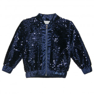 Cardigan with all over shiny details (6-14 years)