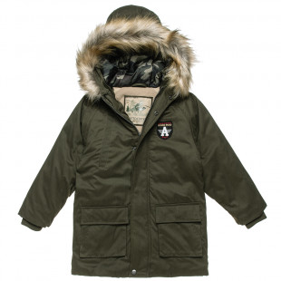 Jacket with hood and pockets (6-16 years)
