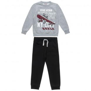 Σετ Φόρμας Five Star μπλούζα με τύπωμα και παντελόνι με τσέπες (6-16 ετών)