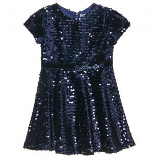 Φόρεμα με παγιέτα και στρας (2-5 ετών)
